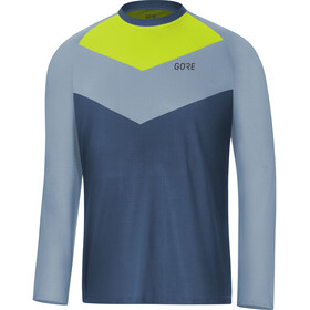 GORE WEAR C5 Trail Long Sleeve Jersey Men deep water blue/cloudy blue